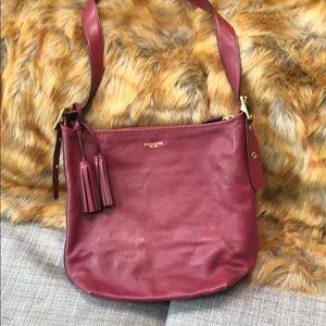 Coach burgundy large bucket bag